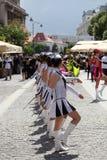 Militarly georganiseerde Cheerleaders Royalty-vrije Stock Afbeeldingen