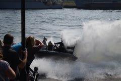 Militarna łódź fotografia royalty free