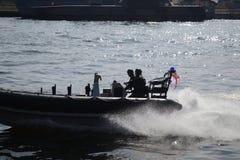 Militarna łódź zdjęcie royalty free