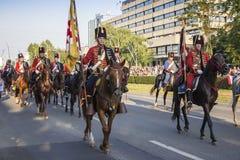 Militarna świąteczna parada Chorwacki wojsko Obraz Stock