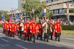 Militarna świąteczna parada Chorwacki wojsko Obrazy Royalty Free
