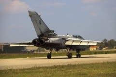 Militarna baza powietrzna Cameri Włoski akrobatyczny drużynowy «Frecce Tricolori «podczas airshow zdjęcie stock