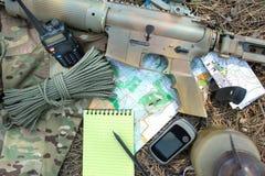 Militarna eksploracja ustawiająca w drewnie obrazy stock