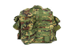 Militarna kamizelka odizolowywająca na białym tle zdjęcie stock