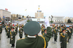 militarna orkiestra Zdjęcie Stock