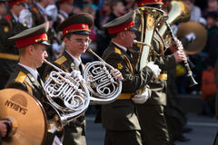 Militarna orkiestra Obrazy Royalty Free