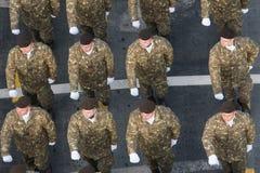 Militarna parada świętuje Rumunia święto państwowe zdjęcie royalty free