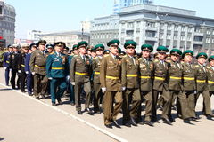 militarna parada Fotografia Stock