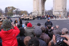Militarna parada Zdjęcia Stock