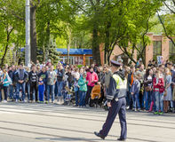 Militarna parada dla 70th rocznicy zwycięstwo fas Zdjęcie Royalty Free
