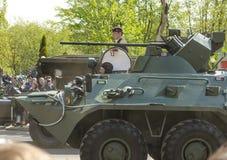 Militarna parada dla 70th rocznicy zwycięstwo fas Fotografia Royalty Free
