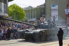 Militarna parada dla 70th rocznicy zwycięstwo fas Zdjęcie Stock