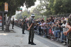 Militarna parada dzień niepodległości w Rio, Brazylia Zdjęcie Royalty Free