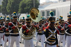 Militarna parada dzień niepodległości w Rio, Brazylia Obrazy Royalty Free