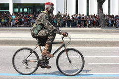 Militarna parada dzień niepodległości w Rio, Brazylia Obraz Royalty Free