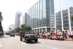 Militarna parada dzień niepodległości w Rio, Brazylia Zdjęcie Stock