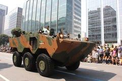 Militarna parada dzień niepodległości w Rio, Brazylia Fotografia Royalty Free