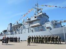 Militarna parada żeglarzi, Lithuania Zdjęcia Royalty Free