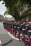 Militarna parada przy ratuszem Winchester Anglia UK Zdjęcie Royalty Free
