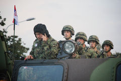 Militarna parada w BELGRADE Fotografia Royalty Free