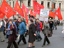 Militarna parada w Petersburg, Rosja Zdjęcia Stock