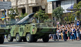Militarna parada w Ukraińskim kapitale Obraz Stock
