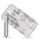 Militarna Psia etykietka Obraz Stock