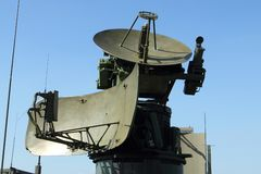 Militarna radarowa stacja Zdjęcia Royalty Free