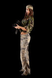 militarna seksowna jednolita kobieta Zdjęcie Stock
