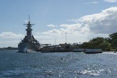 Militarna statek perła Habor fotografia stock