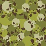 Militarna tekstura czaszki Kamuflażu wojska bezszwowy wzór dla ilustracja wektor