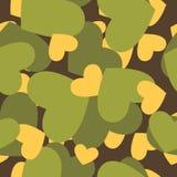 Militarna tekstura dla miłości Kamuflażu wojska bezszwowy wzór od Zdjęcia Royalty Free