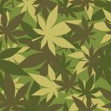 Militarna tekstura marihuana Żołnierza kamuflażu konopie Wojska se Zdjęcie Stock