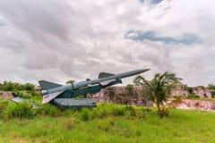 Militarne bronie przeciwlotnicze, balistyczny, pasmo pocisk obraz stock