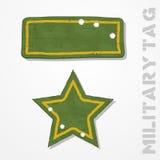 Militarne etykietki Zdjęcia Royalty Free