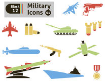 Militarne ikony Obraz Stock