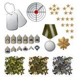 Militarne ikony Obraz Royalty Free
