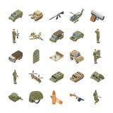 Militarne jednostki specjalnej wojska ikony ilustracja wektor