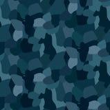 Militarnego błękitnego kamuflażu bezszwowy wzór Dla tekstylnej szaty, Fotografia Stock