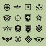 Militarnego symbolu ikony royalty ilustracja