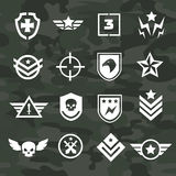 Militarnego symbolu ikony i logo jednostki specjalne Zdjęcie Royalty Free