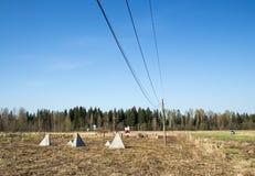 Militarnej historii obóz Zdjęcia Stock