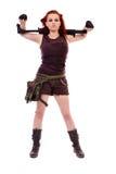 Militarnej rudzielec piękna młoda dama Zdjęcia Stock