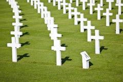 Militarni cmentarzy krzyże Fotografia Stock