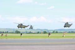 Militarni helikoptery Obrazy Royalty Free