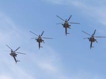 Militarni helikoptery MI-28 Zdjęcie Stock