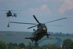 Militarni helikoptery na manewrach Obraz Royalty Free