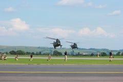 Militarni helikoptery na manewrach Zdjęcie Royalty Free