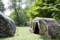 Militarni namioty Obrazy Stock