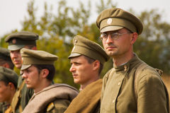 Militarni reenactors w mundurach druga wojna światowa Obraz Stock